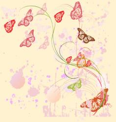 butterfly painting vector image vector image