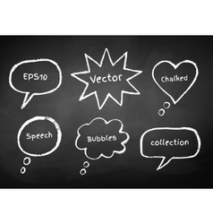 Chalked bubble-talks vector image vector image