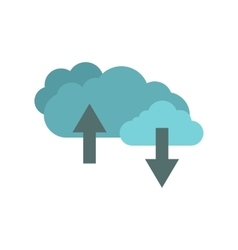 Clouds with arrows flat icon vector image vector image