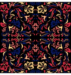color pattern with floral motifs vector image