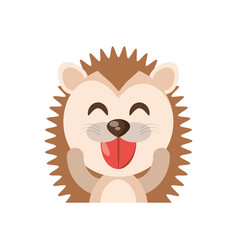 Cute porcupine animal character funny vector