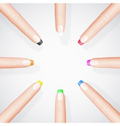 Different manicure vector image vector image