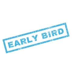Early bird rubber stamp vector