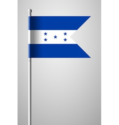 Flag of honduras on flagpole vector