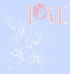 floral pattern love vector image