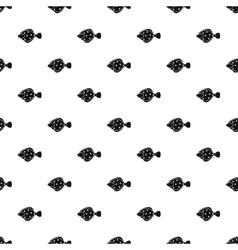 Flounder fish pattern simple style vector