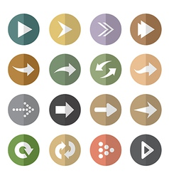 group of arrow in the circle vector image