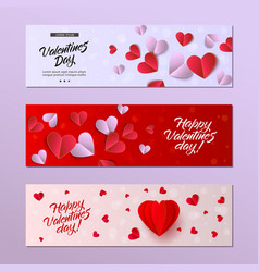happy valentines day card template set vector image vector image