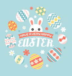 have a very happy easter headline with cute bunny vector image