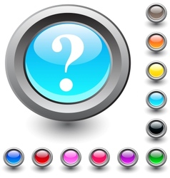 Help round button vector image vector image