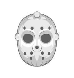 Hockey mask icon black monochrome style vector