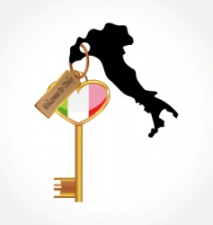 key to Italy vector image vector image