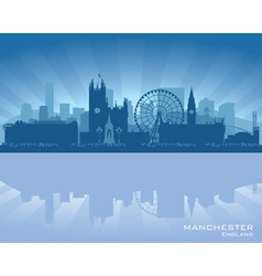 Manchester England skyline vector image vector image