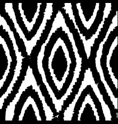 Monochrome rhombus seamless pattern vector