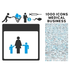 Mother calendar page icon with 1000 medical vector