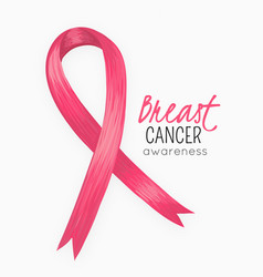 National breast cancer awareness month pink ribbon vector