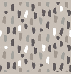 paint splash brushstrokes seamless gray vector image
