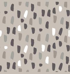 Paint splash brushstrokes seamless gray vector