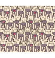 Pattern from zebra muzzles vector image