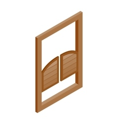 Saloon doors icon isometric 3d style vector