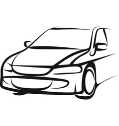 Simple with a car vector image vector image