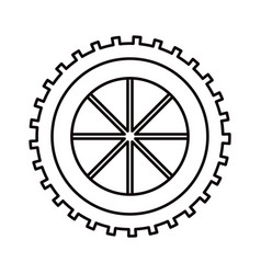Sketch silhouette gear wheel component icon vector