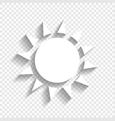 Sun sign white icon with vector
