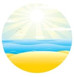 Sunny Sand Beach vector image vector image