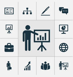 Trade icons set collection of chatting vector