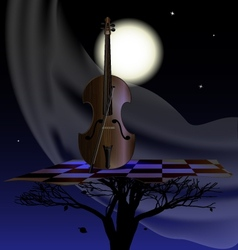 wind nightly music vector image vector image