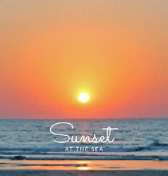 blurred sea sunset background vector image