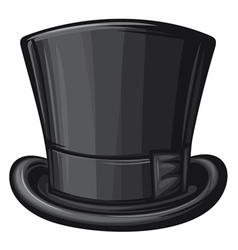 Black gentleman hat vector