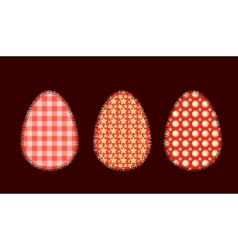 Three easter eggs 1 vector