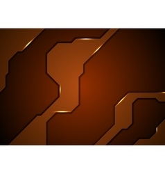 Abstract brown concept tech background vector