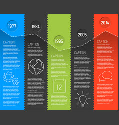Infographic timeline report template with fresh vector