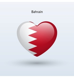 Love bahrain symbol heart flag icon vector