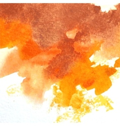 Orange watercolor vector