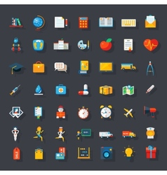 Big flat icons set vector