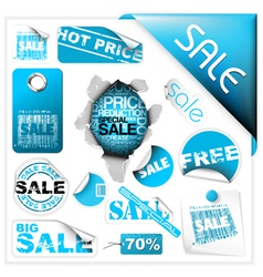 Sale tickets vector