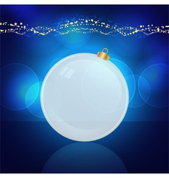 Glowing christmas bauble vector