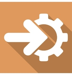 Integration long shadow square icon vector