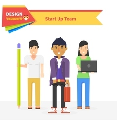 Start up team design community vector