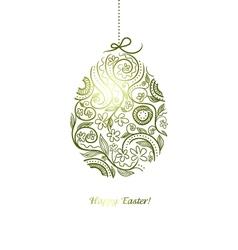 easter decorative egg vector image