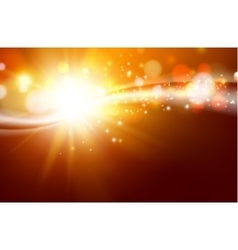 Sun sparkle over dark space vector image