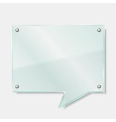 Glass Speech Bubble vector image