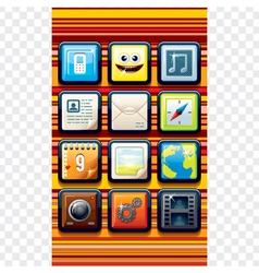 Funky cartoon phone apps vector