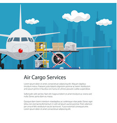 air cargo services and freight poster design vector image