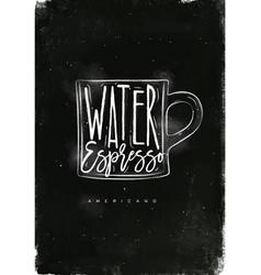 americano cup coffee chalk vector image vector image