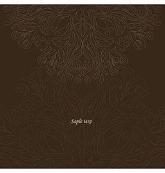 brown background with ornate vector image