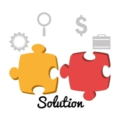 Business solutions with icons vector
